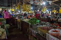 Bali, Indonesia.  Early-morning Interior Scene, Jimbaran Market.