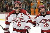 Alex Fallstrom (Harvard - 16), Luke Greiner (Harvard - 26) - The Harvard University Crimson defeated the visiting Bentley University Falcons 5-0 on Saturday, October 27, 2012, at Bright Hockey Center in Boston, Massachusetts.