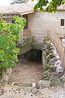The underground cellar. Clos Saint Julien, Saint Emilion, Bordeaux, France