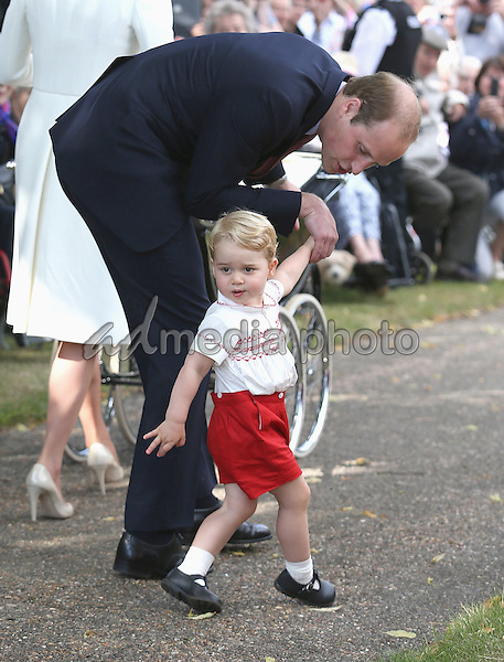 05 July 2015 - King's Lynn, United Kingdom - Prince William, Prince George. The Christening of Princess Charlotte of Cambridge at the Church of St Mary Magdalene on the Sandringham Estate. Photo Credit: Alpha Press/AdMedia