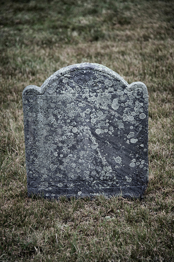 Aging grave stone.