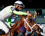 November 7, 2020 : Monomoy Girl, ridden by Florent Geroux, wins the Longines Distaff on Breeders' Cup Championship Saturday at Keeneland Race Course in Lexington, Kentucky on November 7, 2020. Candice Chavez/Breeders' Cup/Eclipse Sportswire/CSM