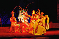 Performers in traditional costume , Sichuan Opera, Chengdu, China.
