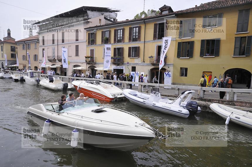 - Milan, NavigaMi ,  boat show on Naviglio Grande channel<br /> <br /> - Milano, NavigaMi , salone nautico sul Naviglio Grande