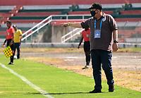 TULUA-COLOMBIA, 07-11-2020: Boca Juniors de Cali y Itagüi Leones F. C., durante partido por la fecha 16 del Torneo BetPlay DIMAYOR 2020 en el estadio Doce de Octubre de la ciudad de Tulua. / Boca Juniors de Cali and Itagüi Leones F. C., during a match for the 16th date of the BetPlay DIMAYOR 2020 Tournament  at the Doce de Octubre de stadium in Tulua city. / Photo: VizzorImage / Juan Jose Horta / Cont.