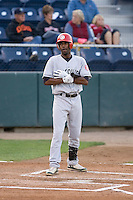 September 1, 2009: Vancouver Canadians outfielder Myrio Richard at-bat during a Northwest League game against the Everett AquaSox at Everett Memorial Field in Everett, Washington.