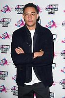 Loyle Carner<br /> arriving for the NME Awards 2018 at the Brixton Academy, London<br /> <br /> <br /> ©Ash Knotek  D3376  14/02/2018