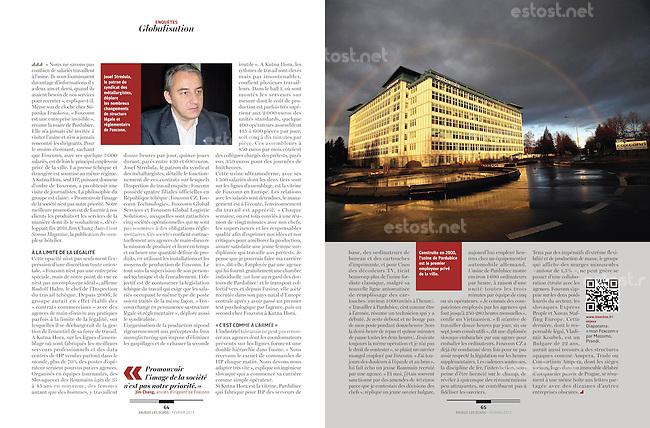 Assignment for Les Enjeux-Les Echos (French economic magazine)..February 2013..Photos: Vaclav Vasku / Est&Ost Photography