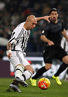Calcio, quarti di finale di Coppa Italia: Lazio vs Juventus. Roma, stadio Olimpico, 20 gennaio 2016.<br /> Juventus's Simone Zaza in action during the Italian Cup quarter final football match between Lazio and Juventus at Rome's Olympic stadium, 20 January 2016.<br /> UPDATE IMAGES PRESS/Isabella Bonotto