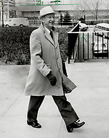 Punch Imlach: His book is extremely critical of Leafs and coach.<br /> <br /> Photo : Boris Spremo - Toronto Star archives - AQP