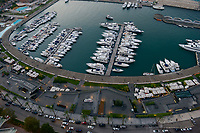 LEBANON, Beirut, yachts at Zaitunay bay at mediterranean sea  / LIBANON, Beirut, Jachthafen Zaitunay Bay am Mittelmeer, Jachten von reichen Exil Libanesen