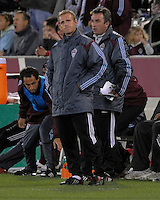 Colorado head coach Gary Smith reacts to Conor Casey's red card ejection. The Houston Dynamo defeated the Colorado Rapids 3-1 at Dick's Sporting Goods Park, Denver, Colorado. Saturday, October 4, 2008. Photo by Trent Davol/isiphotos.com.