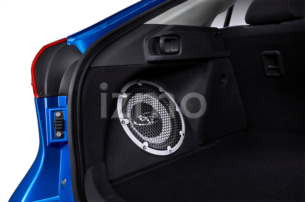 Rear compartment subwoofer in a 2012 Mitsubishi Lancer Sportback GT