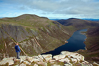 Loch Avon and the Loch Avon Basin from Carn Etchachan, Cairngorm National Park, Badenoch and Speyside, Highland