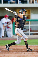 Jake Lamb (18) of the Missoula Osprey follows through on his swing against the Orem Owlz at Brent Brown Ballpark on July 23, 2012 in Orem, Utah.  The Owlz defeated the Osprey 6-1.  (Brian Westerholt/Four Seam Images)