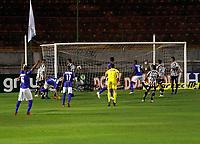São Paulo (SP), 28/02/2021 - Santo André-Santos - Vitinho, comemora gol do Santo André. Partida entre Santo André e Santos válida pela primeira rodada do Campeonato Paulista neste domingo (28) no estádio do Canindé em São Paulo.