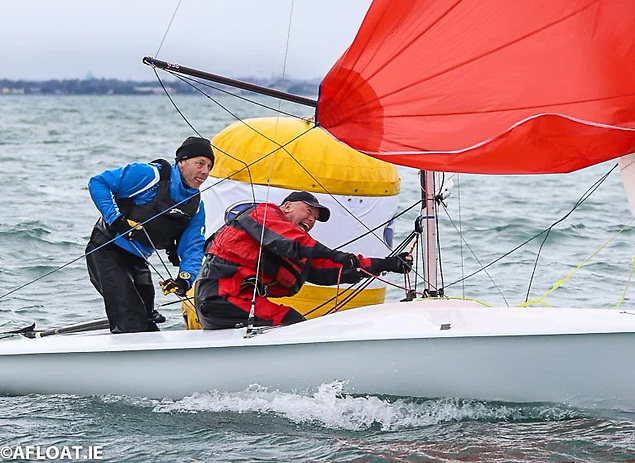 David Mulvin and Ronan Beirne of the National Yacht Club were race winners in one of Saturday's DBSC Flying Fifteen races
