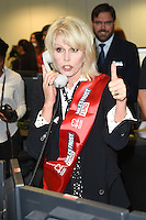 Joanna Lumley<br /> on the trading floor for the BGC Charity Day 2016, Canary Wharf, London.<br /> <br /> <br /> ©Ash Knotek  D3152  12/09/2016