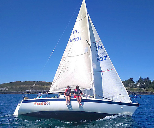 The O'Brien family on Excelsior are competing in Schull Sailing Club's final Autumn League this Saturday