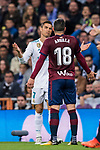 Cristiano Ronaldo (l) of Real Madrid argues with Anaitz Arbilla Zabala of SD Eibar during the La Liga 2017-18 match between Real Madrid and SD Eibar at Estadio Santiago Bernabeu on 22 October 2017 in Madrid, Spain. Photo by Diego Gonzalez / Power Sport Images