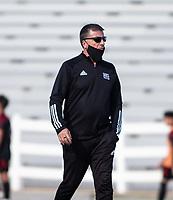 Mike Devaney head boy's soccer coach for Bentonville at Jarrell Williams Bulldog Stadium, Springdale, Arkansas, on Wednesday, April 7, 2021 / Special to NWA Democrat Gazette  David Beach