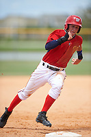 GCL Nationals shortstop Carter Kieboom (9) running the bases during a game against the GCL Astros on August 14, 2016 at the Carl Barger Baseball Complex in Viera, Florida.  GCL Nationals defeated GCL Astros 8-6.  (Mike Janes/Four Seam Images)