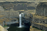Palouse Falls drops from a height of 198 feet with high volumes of water flow in spring and early summer..