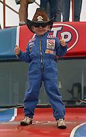 young richard petty fan fans Daytona 500 at Daytona International Speedway on February 19, 1989.  (Photo by Brian Cleary/www.bcpix.xom)
