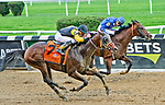 September 29, 2018 : Discreet Lover, ridden by Manny Franco, wins the Jockey Club Gold Cup on Jockey Club Gold Cup Day at Belmont Park on September 29, 2018 in Elmont, New York. Sue Kawczynski/Eclipse Sportswire/CSM