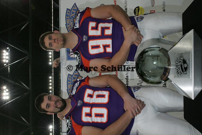 Die Nationals Samuel Gutekunst und Ulrich WInkler (beide Frankfurt Galaxy)