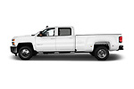 Car Driver side profile view of a 2017 Chevrolet Silverado-3500HD LT-Crew-DRW 4 Door Pickup Side View