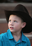 Breighdon Swenson, 7, waits for the start of the 5th Annual Carson City Bulls, Broncs & Barrels event at Fuji Park, in Carson City, Nev., on Saturday, July 29, 2017. <br />