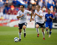 Landon Donovan of the USA carries the ball against El Salvador during a World Cup Qualifying match at Rio Tinto Stadium, in Sandy, Utah, Friday, September 5, 2009.  .The USA won 2-1..