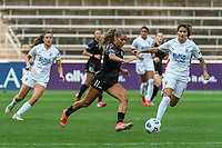 BRIDGEVIEW, IL - JULY 18: Sarah Gorden #11 of the Chicago Red Stars plays the ball during a game between OL Reign and Chicago Red Stars at SeatGeek Stadium on July 18, 2021 in Bridgeview, Illinois.