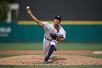 Detroit Tigers pitcher Ruben Garcia (53) during a Florida Instructional League game against the Pittsburgh Pirates on October 16, 2020 at Joker Marchant Stadium in Lakeland, Florida.  (Mike Janes/Four Seam Images)