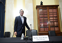 United States Secretary of the Treasury Steven T. Mnuchin arrives for the US Senate Small Business and Entrepreneurship Hearings to examine implementation of Title I of the CARES Act on Capitol Hill in Washington, DC on Wednesday, June 10, 2020.     <br /> Credit: Kevin Dietsch / Pool via CNP/AdMedia