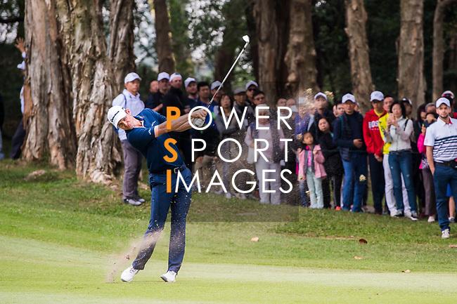 Justin Rose of England tees off during the day three of UBS Hong Kong Open 2017 at the Hong Kong Golf Club on 25 November 2017, in Hong Kong, Hong Kong. Photo by Marcio Rodrigo Machado / Power Sport Images