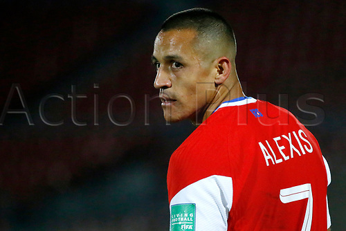 13th November 2020; National Stadium of Santiago, Santiago, Chile; World Cup 2020 Football qualification, Chile versus Peru;  Alexis Sanchez of Chile