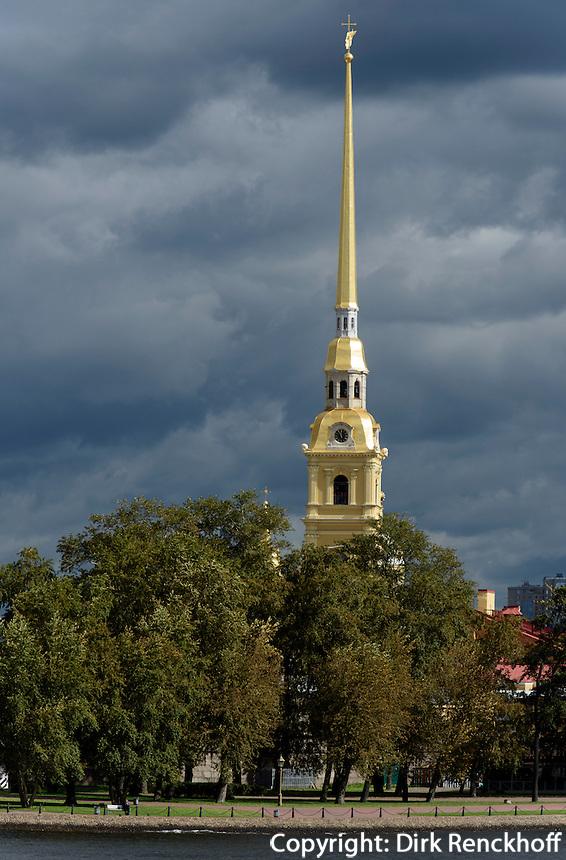Peter und Paul-Kirche auf der Haseninsel, St. Petersburg, Russland, UNESCO-Weltkulturerbe