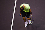 BANGKOK, THAILAND - OCTOBER 02:  Rafael Nadal of Spain reacts after losing a point against compatriot Guillermo Garcia-Lopez during the Day 8 of the PTT Thailand Open at Impact Arena on October 2, 2010 in Bangkok, Thailand.  Photo by Victor Fraile / The Power of Sport Images