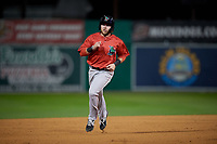 Lowell Spinners Cameron Cannon (50) running the bases during a NY-Penn League Semifinal Playoff game against the Batavia Muckdogs on September 4, 2019 at Dwyer Stadium in Batavia, New York.  Batavia defeated Lowell 4-1.  (Mike Janes/Four Seam Images)
