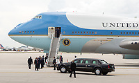 MIAMI, FL - JUNE 16: (NEW YORK DALLIES OUT) U.S. President Donald Trump arrives at Miami International Airport prior to his event where he signed policy changes toward Cuba on June 16, 2017 in Miami, Florida.<br /> <br /> <br /> People:  U.S. President Donald Trump