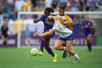 Orlando, FL - Sunday July 10, 2016: Orlando Pride and Boston Breakers  during a regular season National Women's Soccer League (NWSL) match between the Orlando Pride and the Boston Breakers at Camping World Stadium.