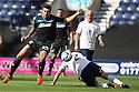 Michael Doughty of Stevenage (on loan from QPR) beats Keith Keane of Preston<br />  - Preston North End v Stevenage - Sky Bet League One - Deepdale, Preston - 14th September 2013. <br /> © Kevin Coleman 2013