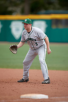 Dartmouth Big Green first baseman Michael Calamari (3) during a game against the USF Bulls on March 17, 2019 at USF Baseball Stadium in Tampa, Florida.  USF defeated Dartmouth 4-1.  (Mike Janes/Four Seam Images)