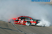 2017 Monster Energy NASCAR Cup Series - Kobalt 400<br /> Las Vegas Motor Speedway - Las Vegas, NV USA<br /> Sunday 12 March 2017<br /> Martin Truex Jr, Bass Pro Shops/TRACKER BOATS Toyota Camry celebrates his win with a burnout <br /> World Copyright: Russell LaBounty/LAT Images<br /> ref: Digital Image 17LAS1rl_5192