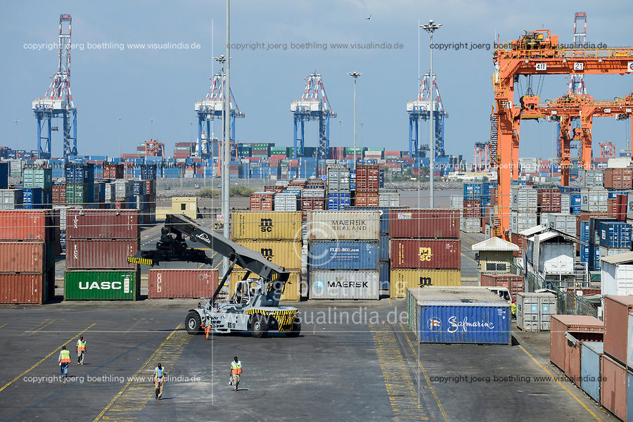 DJIBOUTI, new Doraleh Container Terminal (DCT), built by chinese company, most of the goods for or from Ethiopia are shipped via Djibouti / DSCHIBUTI neuer Container Hafen Doraleh, die meisten Waren fuer Aethiopien werden ueber Djibouti verschifft