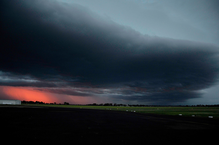 Summer Storm approaching at Narromine airport, narromine, NSW Australia<br />