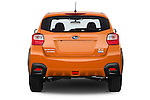 Straight rear view of 2014 Subaru XV-Crosstrek Premium 5 Door SUV Rear View  stock images