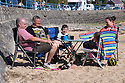 30/05/16 <br /> <br /> A family enjoys a picnic on the beach.<br /> Bank Holiday Monday on Benllech beach in Anglesey<br /> <br /> All Rights Reserved: F Stop Press Ltd. +44(0)1335 418365   +44 (0)7765 242650 www.fstoppress.com